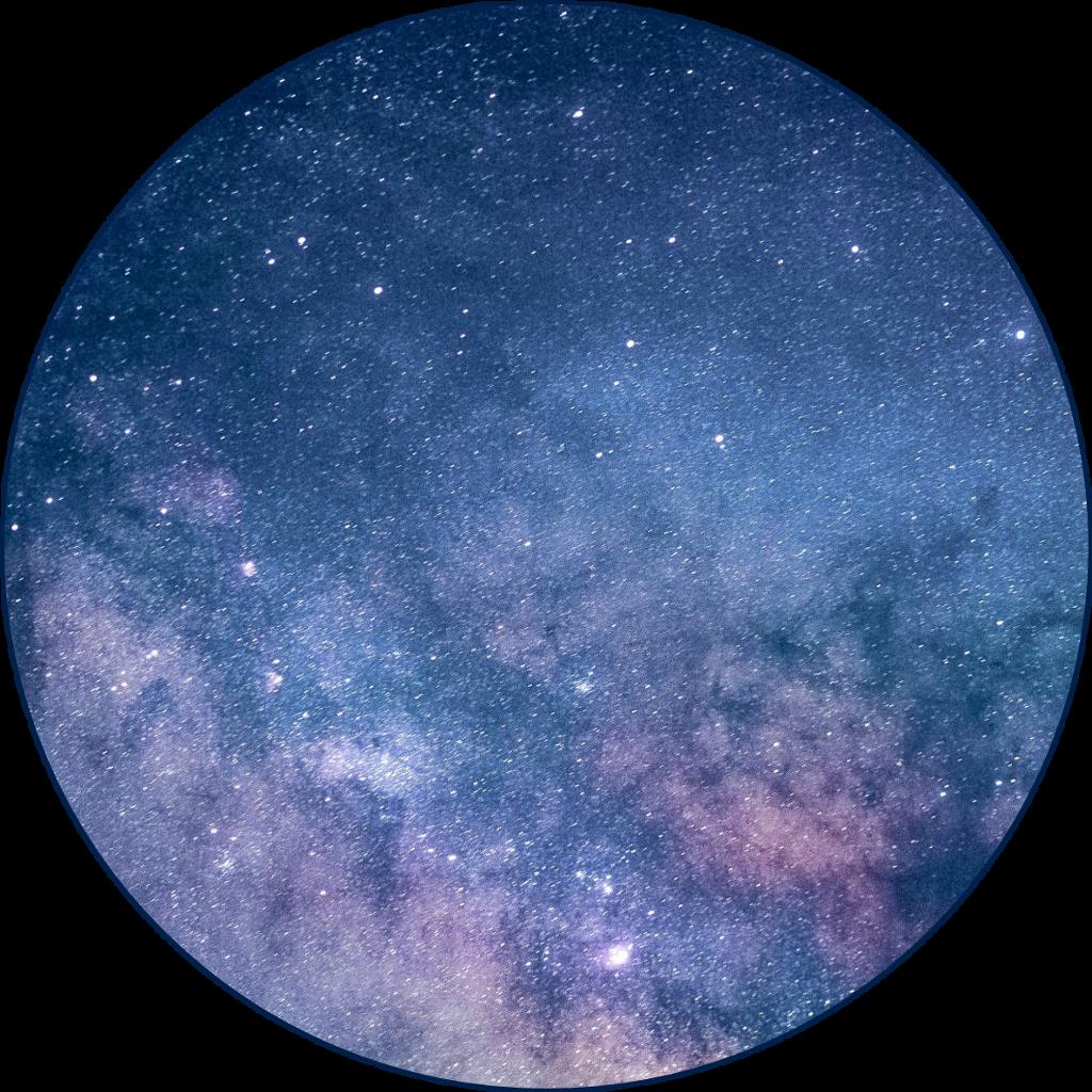 galaxy circle transparent sticker...