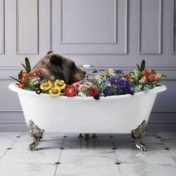 BestLife LifeGoals Relaxation Bear Floral Flowers Bath