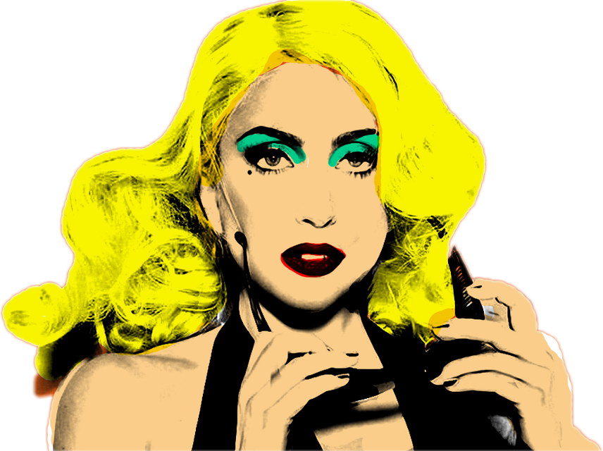 #ladygaga #popart #freetoedit