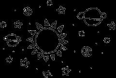 tumblr galaxy galaxia luna sol