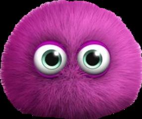 ftestickers purple eyes fuzzy fluffy