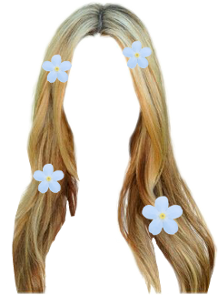 freetoedit flower hair
