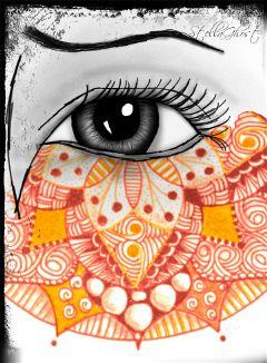 wdpmandala mandala blackandwhite web eye wdpeye