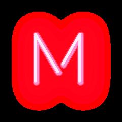freetoedit letterm letter neonletter m