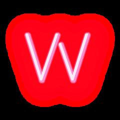 freetoedit letterw letter neonletter w