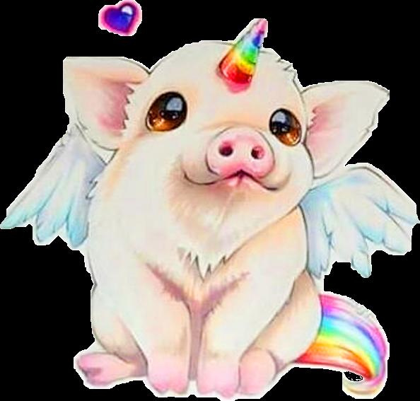 piggy unicorn pig cute animal fantacy creative remixit cute pig clipart cute pig clip art free