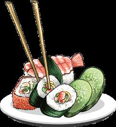 ftstickers sushi freetoedit
