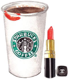 makeup lipstick coffee starbucks chanel