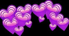 hearts purple png edit freetoedit