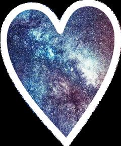 cute colorful galaxy hart corazon