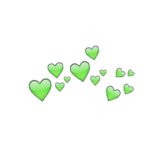 heart tumblr heartcrown green hearts