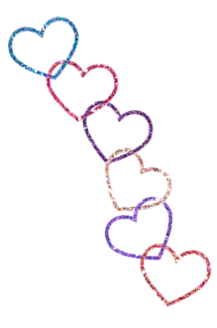 glitter hearts chain freetoedit