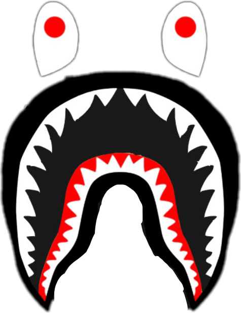 bape shark sticker by gianna olivieri