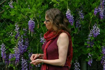 garden woman outdoors candid