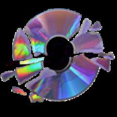disk brokendisk cd dvd holographic
