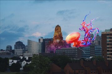 freetoedit city buildings jellyfish giantanimals
