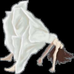 falling girl dress freetoedit