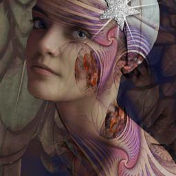 freetoedit artisticselfie myartwork womanportrait doubleexpesure