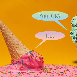freetoedit icecream pratfall meltedicecreamremix dialogue