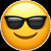 cool emoji black yellow smile
