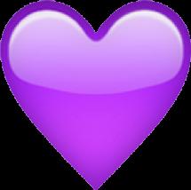emoji purple heart cute tumblr