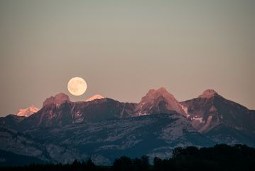 freetoedit mountains alps moon nature
