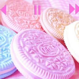 freetoedit pastelcolors oreos pinkplayerstickerremix