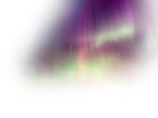 aurora sky space pink green