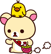 rirakuma kuma cartoon stickers png