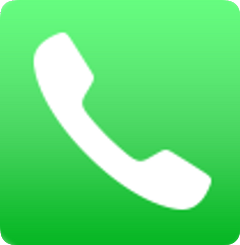 call phone ring green white