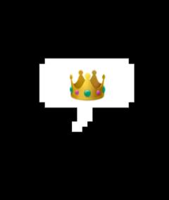 queen crown bubble bubbletext bubbleword