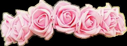 flowercrown pink rosespink rosecrown babypink