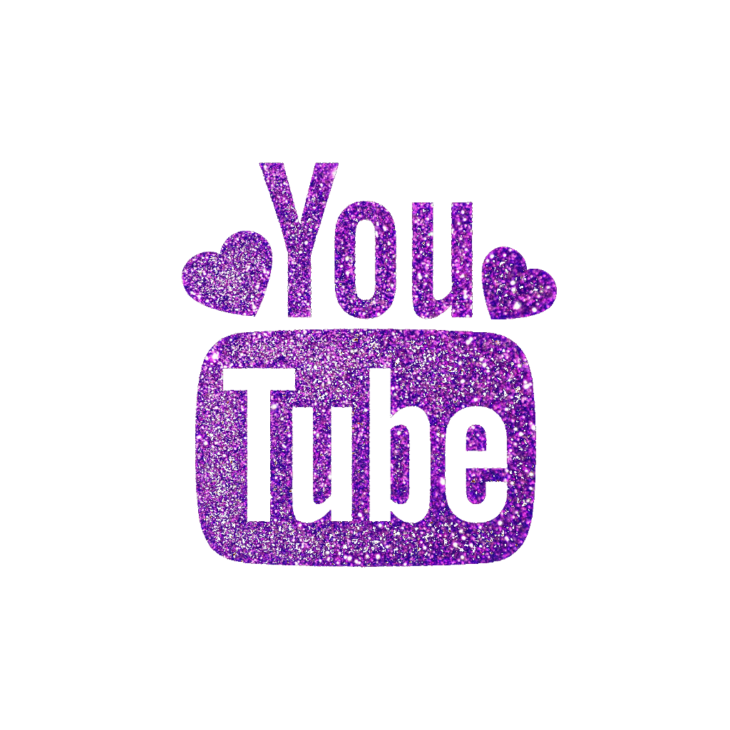 Cute Youtube Logo Purple | aesthetic tumblr