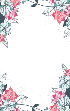 border frame flowers leaves ftestickers
