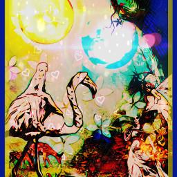 neonheartsstickerremix neonhearts charmingforest charming fairy freetoedit