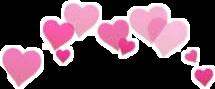 corona corazones tumblr emoji head