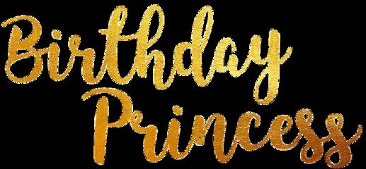 birthday birthdayprincess gold princess freetoedit