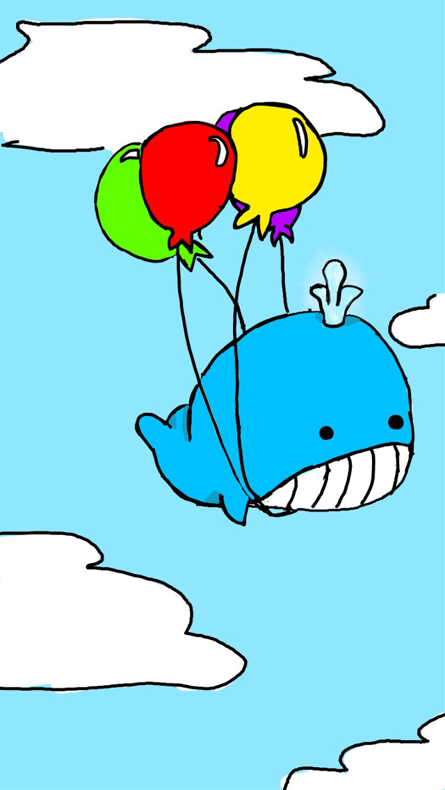 #wdpwhale #challenge #vote #draw #whale #cute #blue #drawedbyme #balloons #voteme