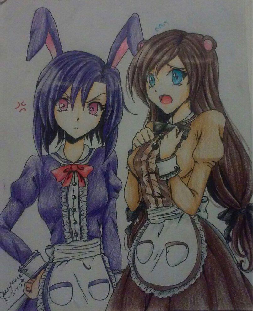 bonniethebunny freddyfazbear rule63 genderbend anime