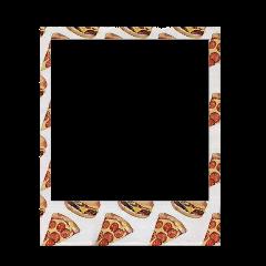 pizza pattern food polaroid overlay