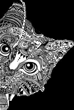 mandalas cat freetoedit