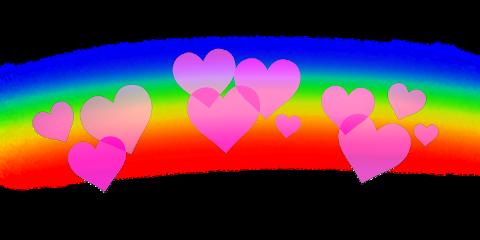 hearts heart rainbow coeurs corazones