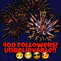 400followers thankyou great fantastic
