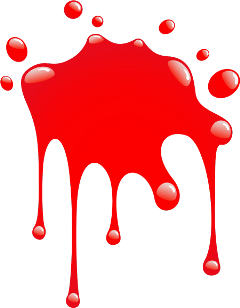 red drip splat blood remixit