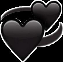 freetoedit сердце сердечко чёрный смайл