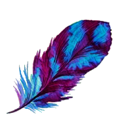 feathers blue purple stickers freetoedit
