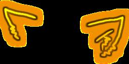 кот ушки cat yellow freetoedit