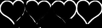 hearts black freetoedit