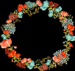 flowerframe circleframe floral flowers spring
