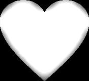 sticker heart transparent white freetoedit